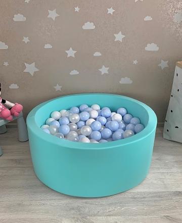 Мятный детский сухой бассейн с шариками