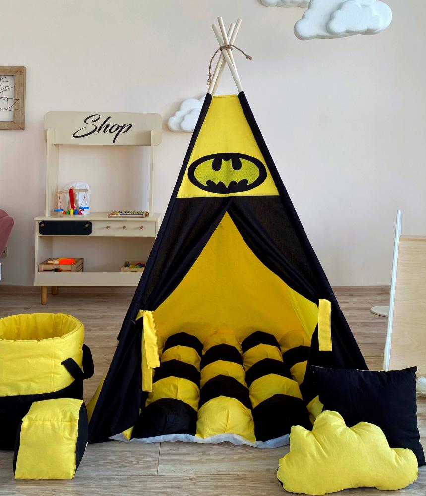 """Вигвам """"Ночное поместье Бэтмена"""" с ковриком бомбон(пухлый)"""