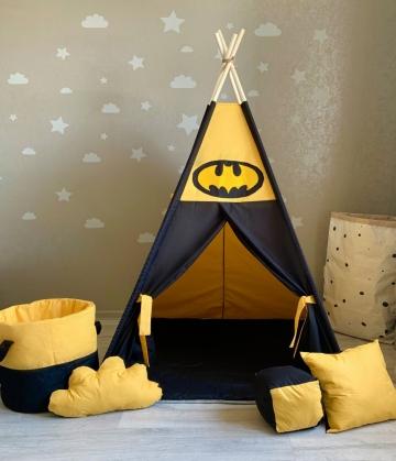 """Вигвам """"Ночное поместье Бэтмена"""" с прямым ковриком"""